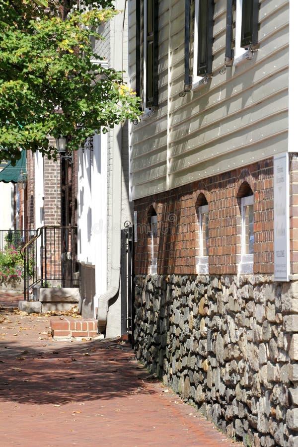 Straat in Alexandrië, Virginia stock foto