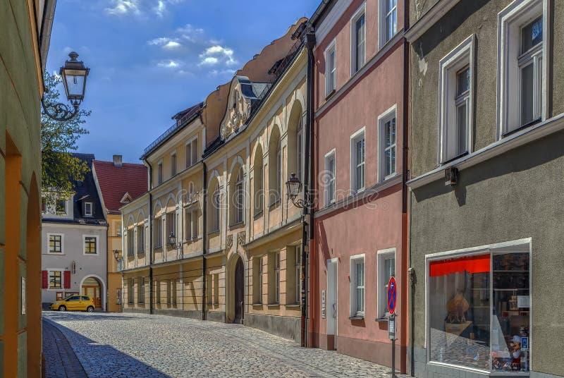 Straat in Amberg, Duitsland stock fotografie