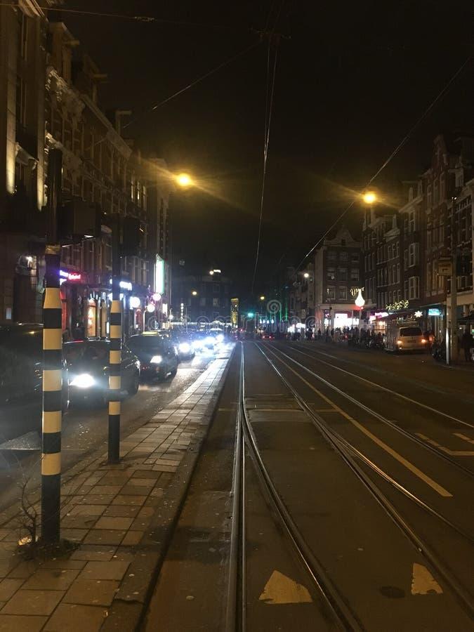 Straat in Amsterdam stock fotografie