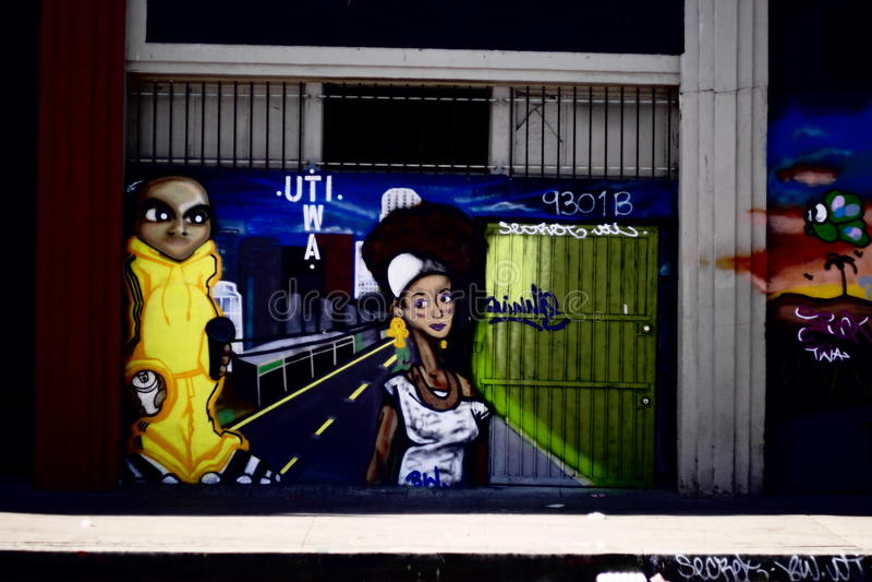 Straat Art Design stock afbeelding