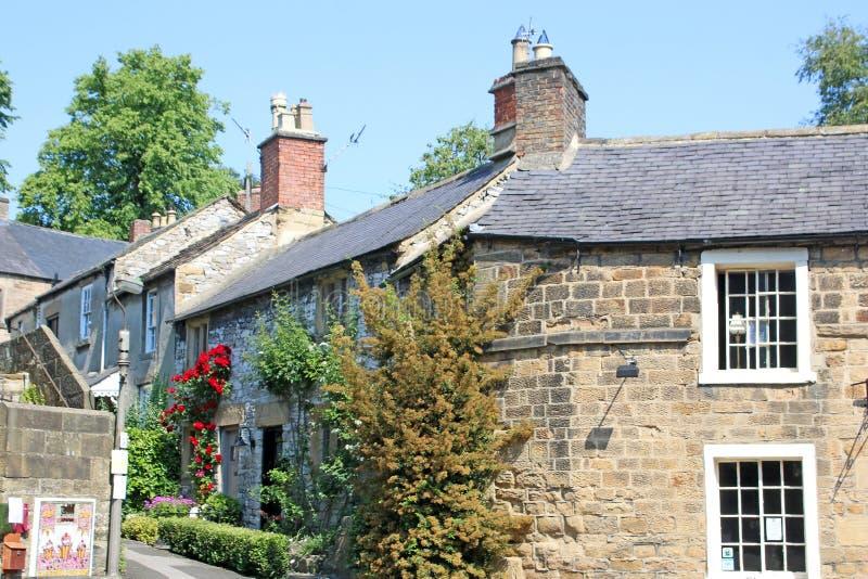 Straat in Bakewell, Derbyshire royalty-vrije stock afbeelding