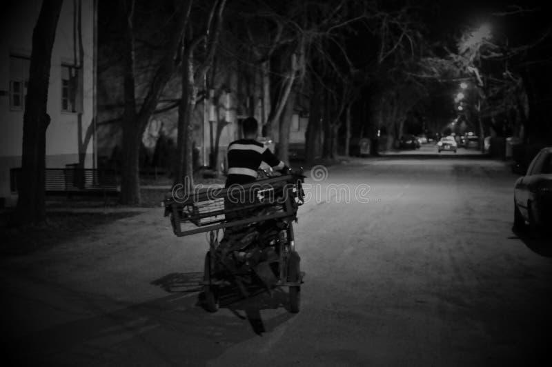 Straat bij nacht royalty-vrije stock foto