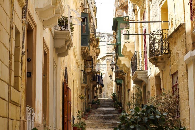 Straat in Birgu royalty-vrije stock fotografie