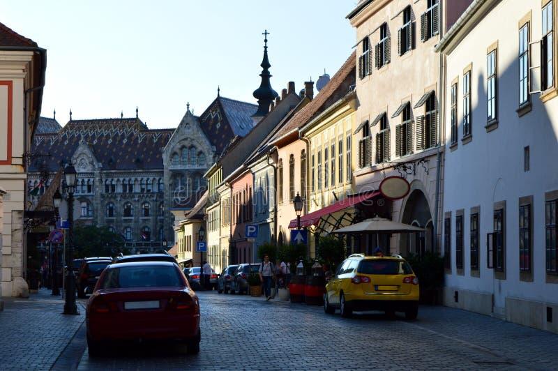 Straat in Boedapest, Hongarije royalty-vrije stock afbeelding