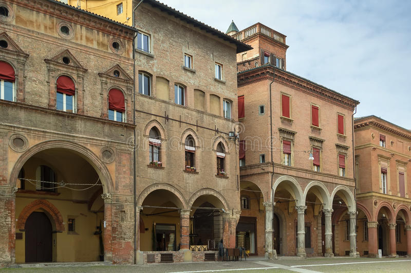 Straat in Bologna, Italië stock afbeelding