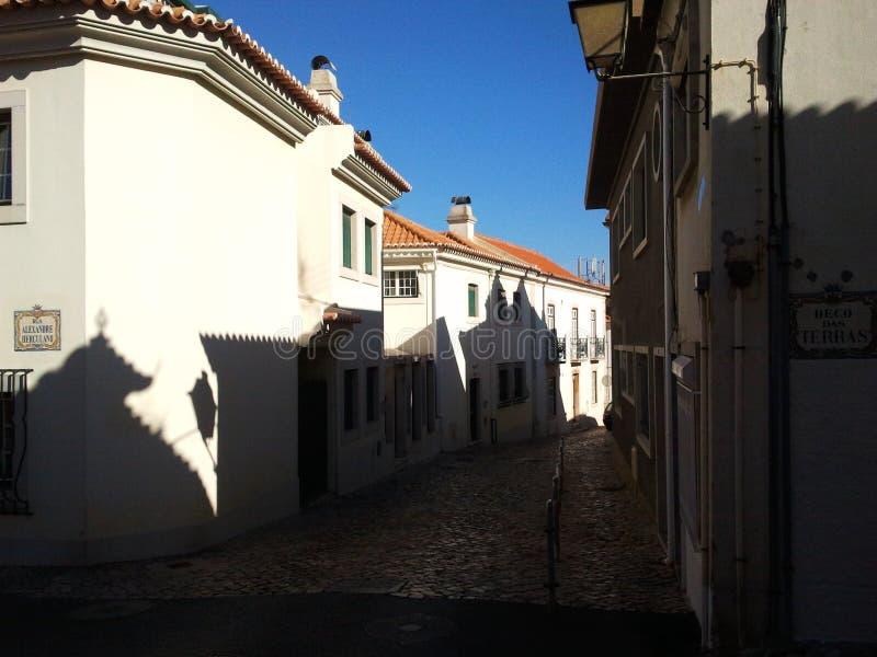 Straat in Cascais, Portugal stock fotografie