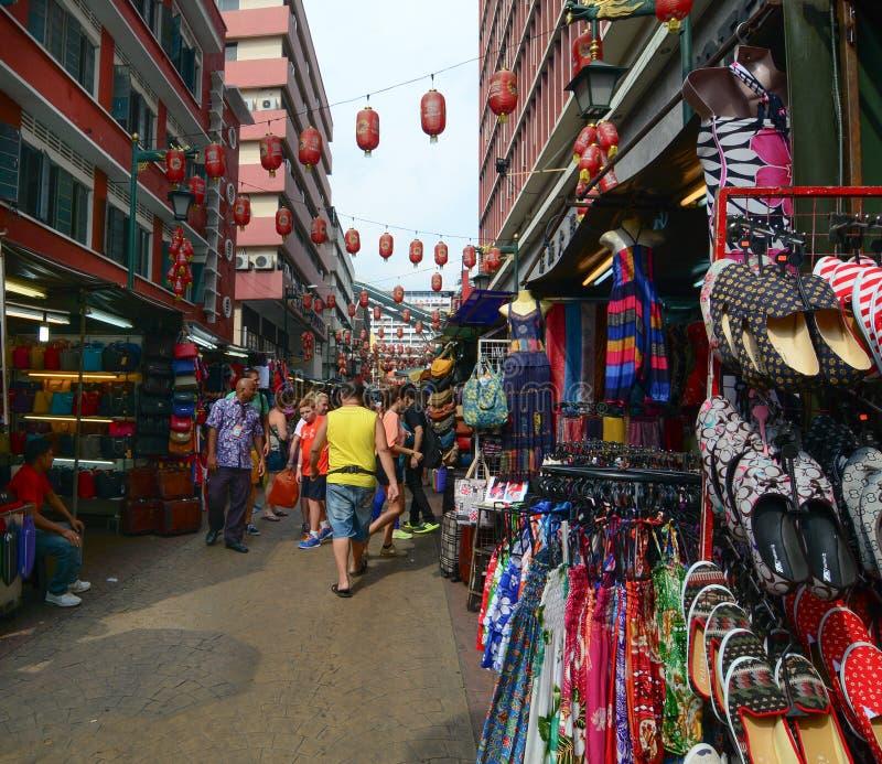 Straat in Chinatown, Singapore stock afbeeldingen