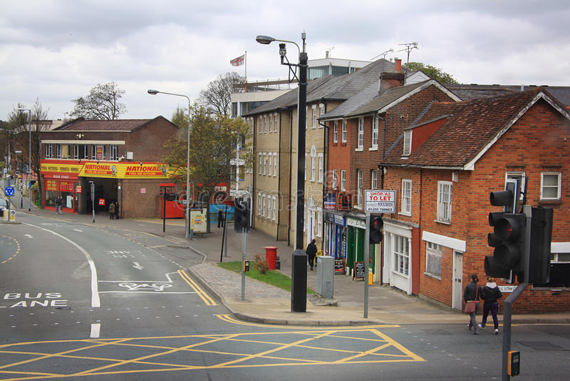 Straat in Colchester royalty-vrije stock afbeelding
