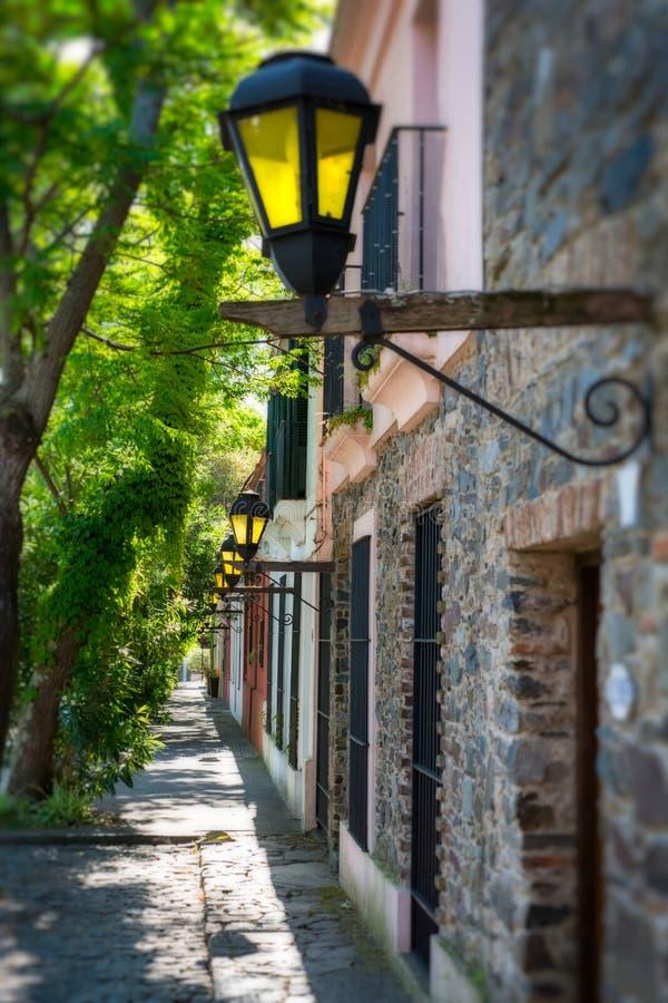 Straat in Colonia del Sacramento royalty-vrije stock foto's