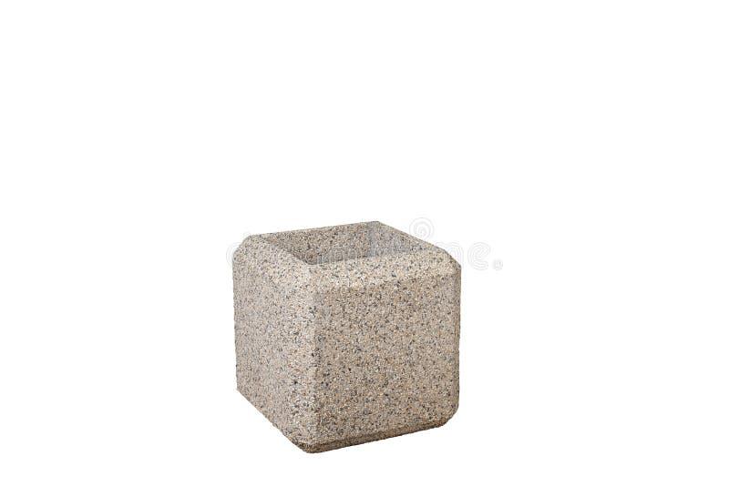 Straat concrete gerecycleerde bak Geïsoleerd op wit stock fotografie