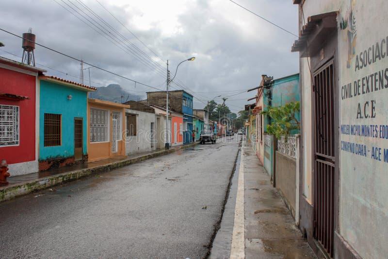 Straat in Cumanacoa-stad royalty-vrije stock fotografie