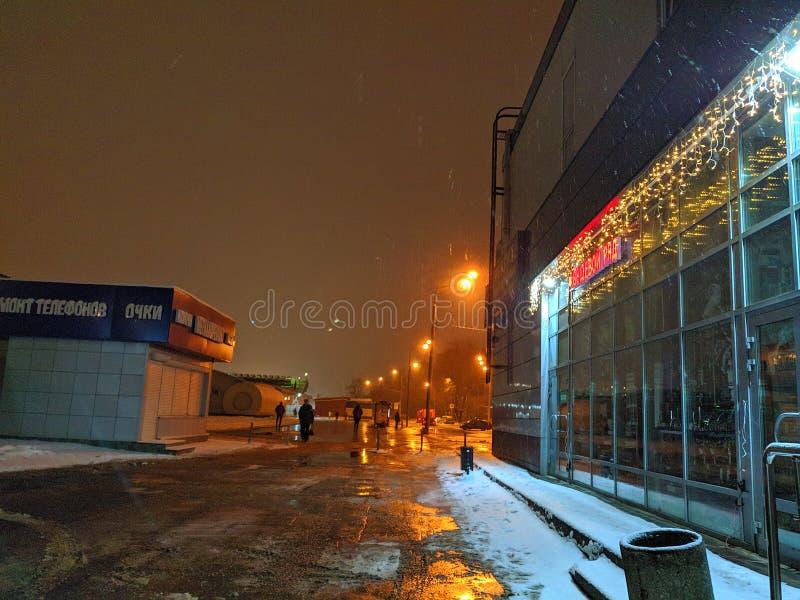 Straat in de avond royalty-vrije stock foto