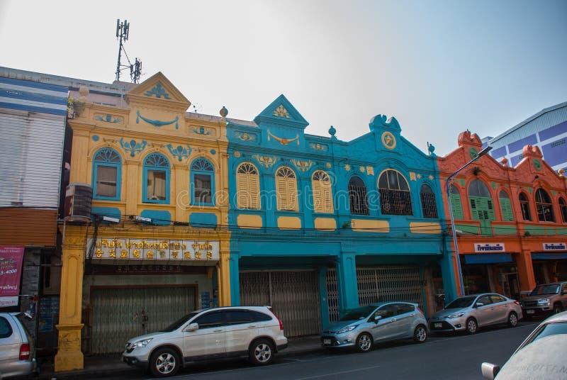 Straat in de stad Hatyai thailand royalty-vrije stock afbeeldingen