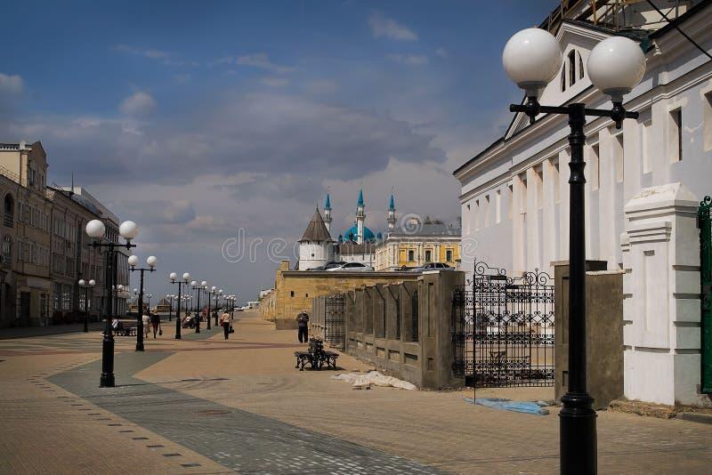 Straat in de stad van Kazan. royalty-vrije stock foto