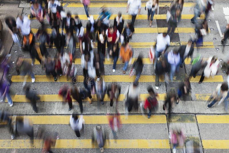 Straat Die In Hongkong Kruist Stock Afbeeldingen