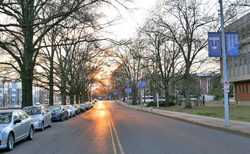 Straat die langs de Universiteit van Memphis lopen stock fotografie
