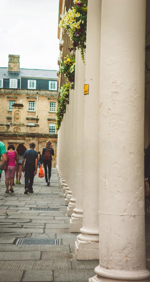 Straat die tot Roman Bath leiden royalty-vrije stock foto
