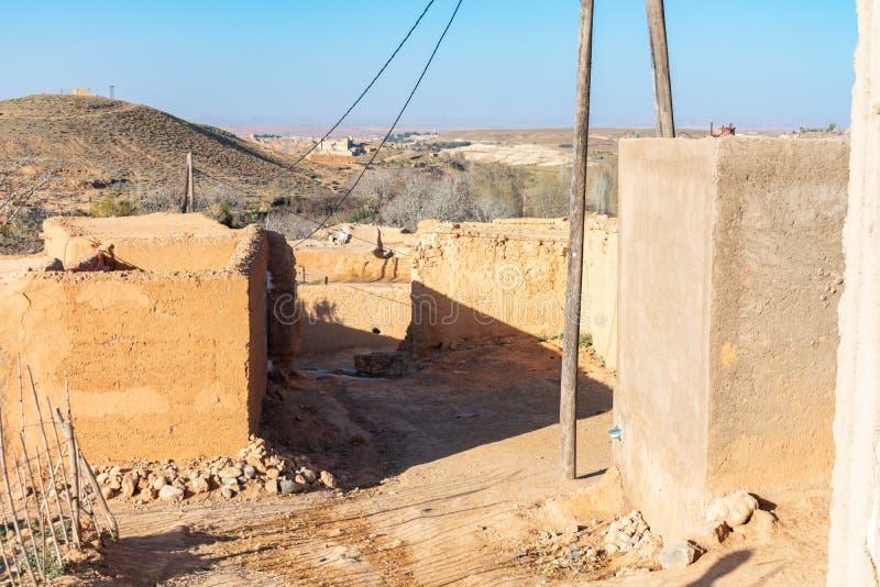 Straat in een Landelijk Dorp in Midelt Marokko stock fotografie