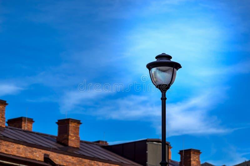 Straat elektrische lamp stock foto's