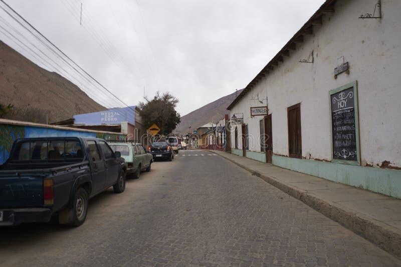 Straat in Elqui-Vallei royalty-vrije stock afbeelding