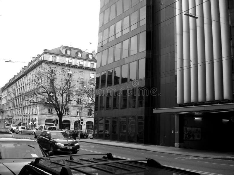 Straat in Genève royalty-vrije stock foto