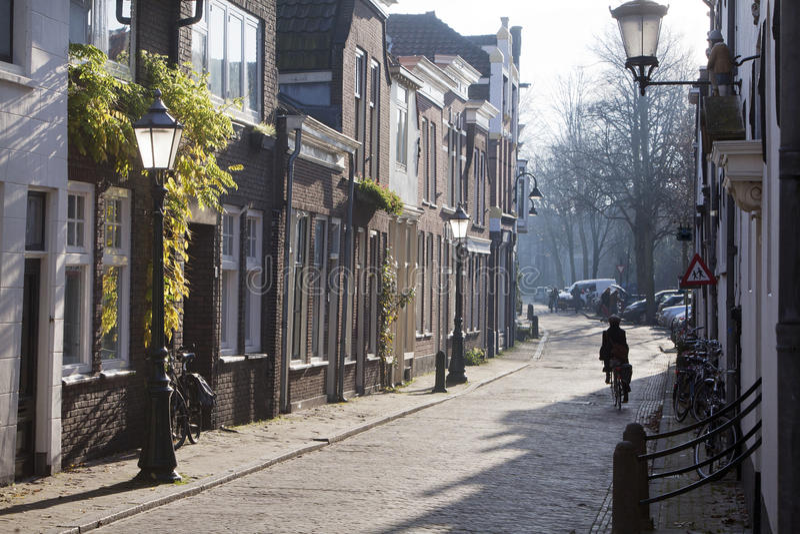 Straat in Gouda royalty-vrije stock fotografie