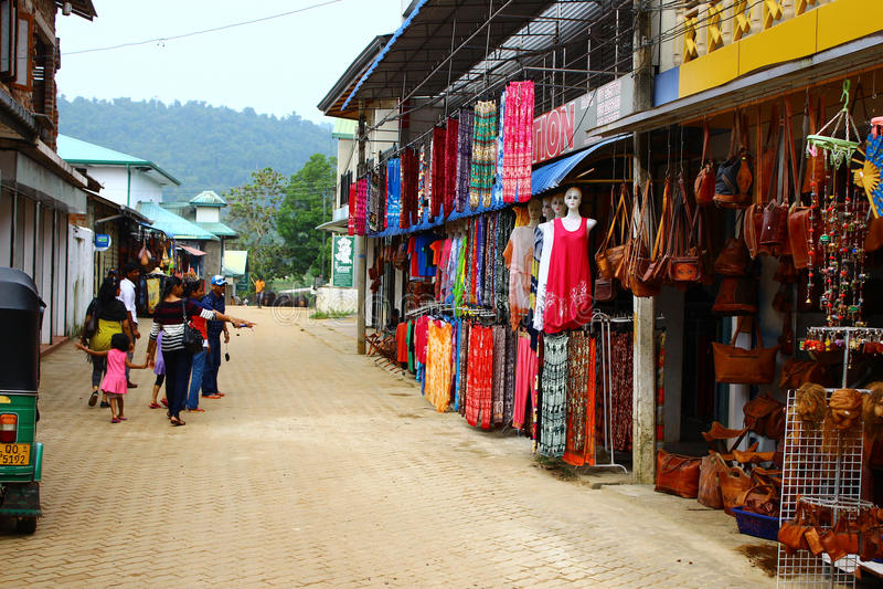 Straat handelboxen in Sri Lanka, Kandy stock afbeelding