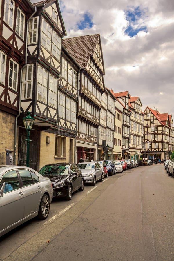 Straat in Hanover Duitsland stock afbeeldingen