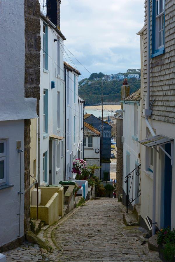 Straat in Heilige Ives, Cornwall, Engeland royalty-vrije stock foto