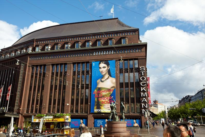 Straat in Helsinki, Finland royalty-vrije stock afbeelding