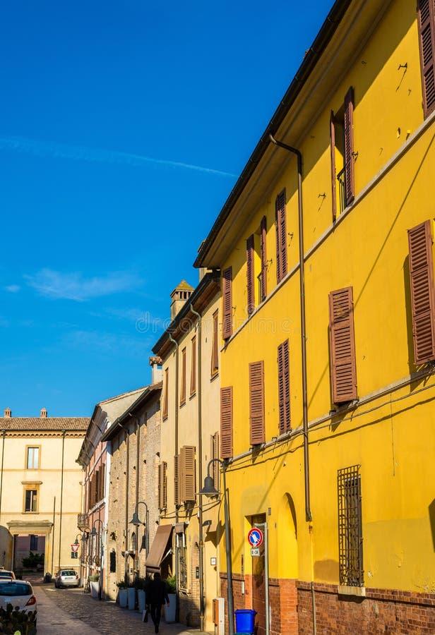 Straat in het historische centrum van Ravenna royalty-vrije stock afbeeldingen