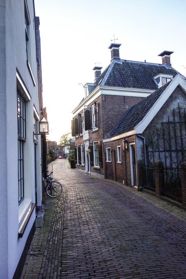 Straat in Holland stock foto's