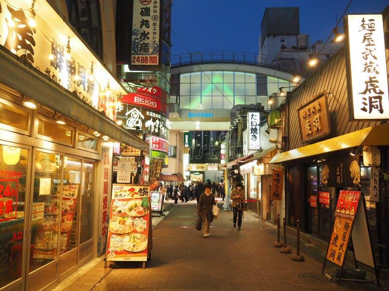 Straat in Kichijoji-District in Tokyo stock fotografie