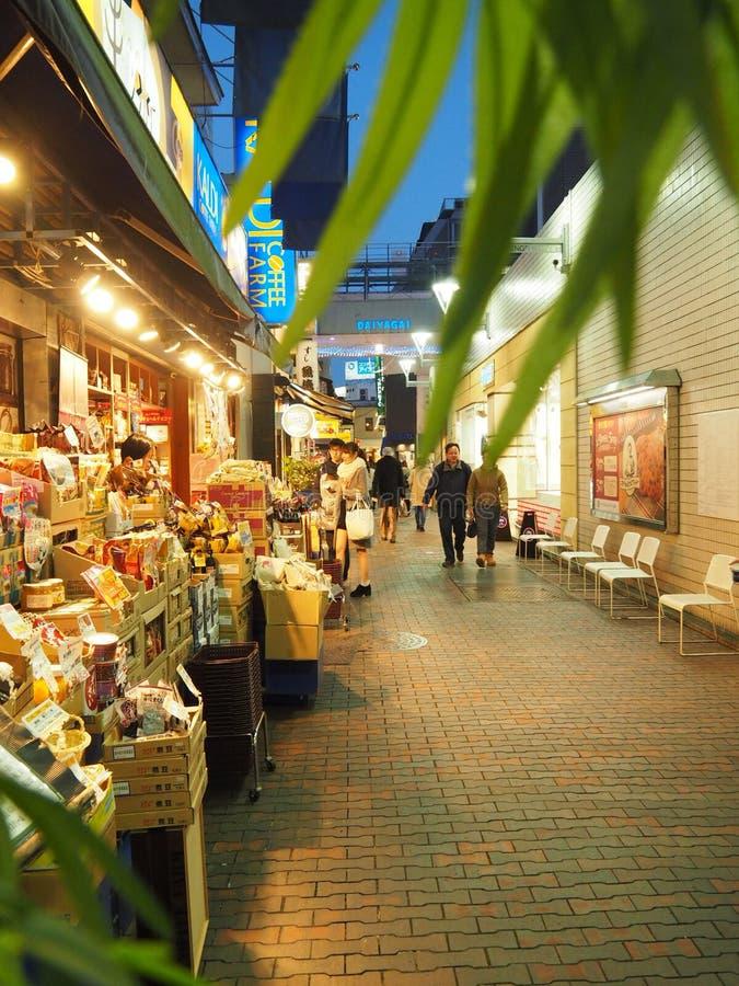 Straat in Kichijoji-District in Tokyo stock afbeelding