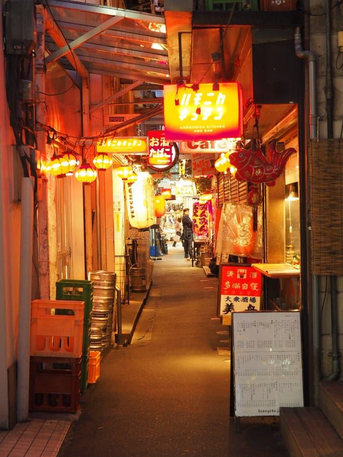 Straat in Kichijoji-District in Tokyo royalty-vrije stock afbeelding