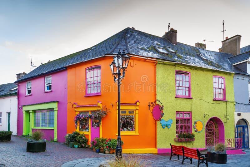 Straat in Kinsale, Ierland stock fotografie