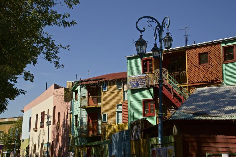 Straat in La Boca, Buenos aires stock afbeelding
