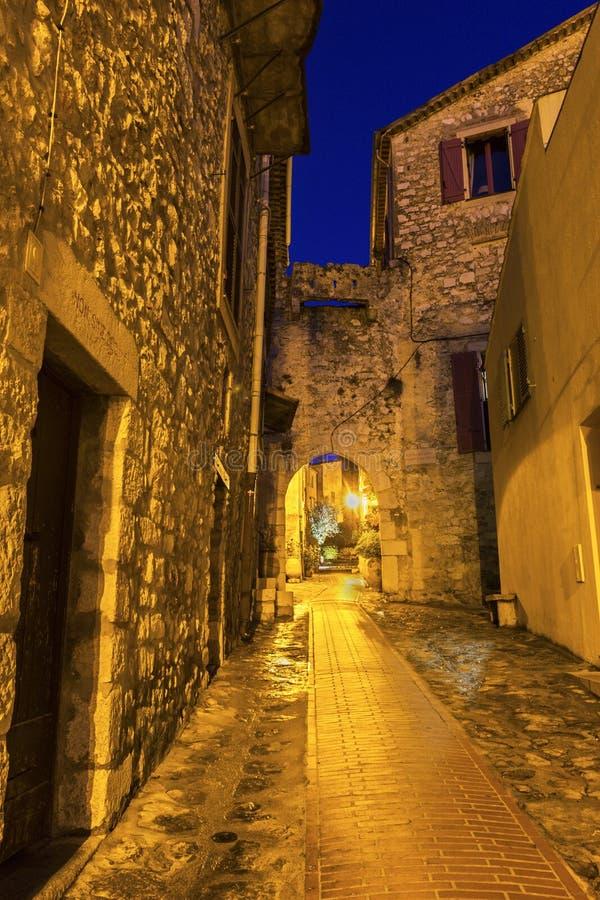 Straat in La Turbie in Frankrijk royalty-vrije stock foto's