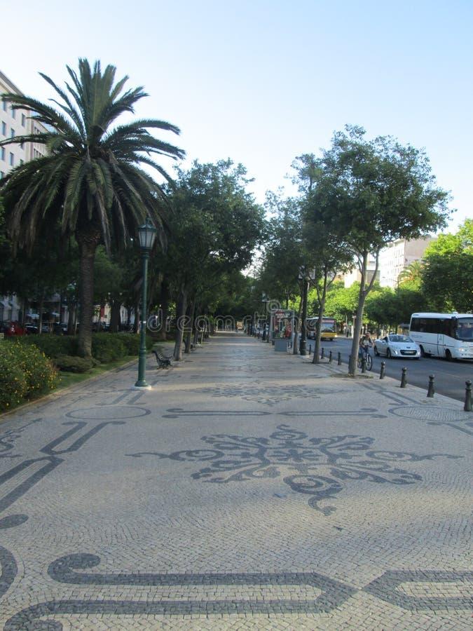 Straat in Lissabon stock afbeeldingen
