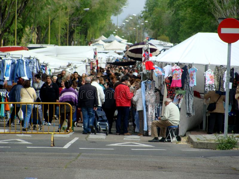 Straat marketing in Spanje stock foto