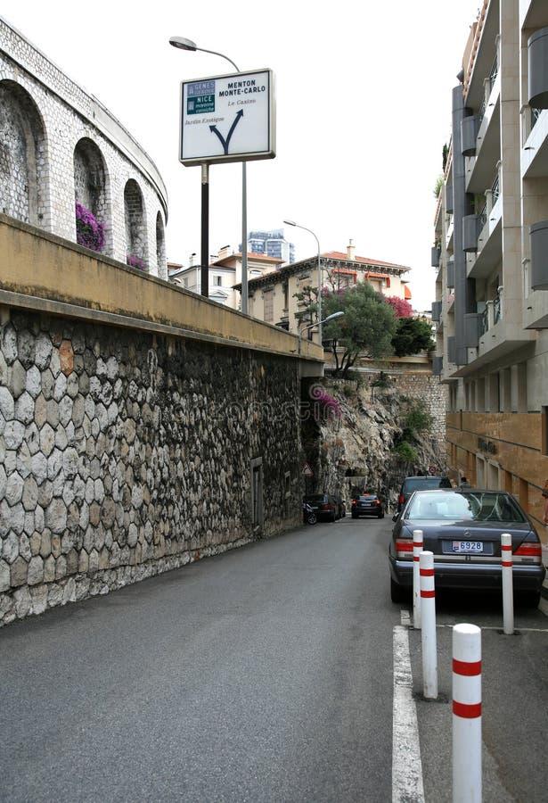 Straat in Monaco royalty-vrije stock foto