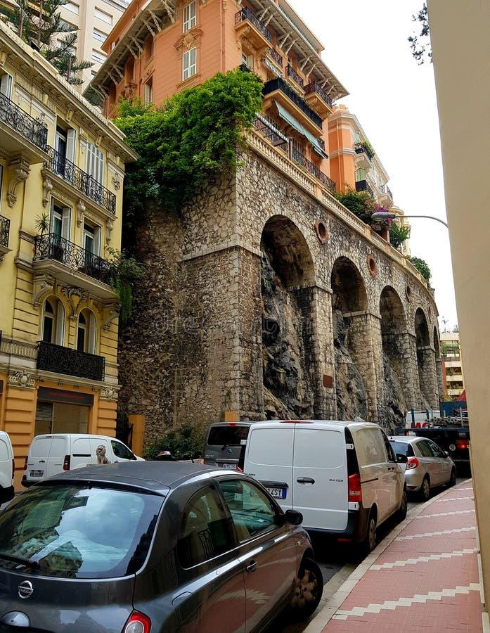Straat in Monte Carlo royalty-vrije stock fotografie