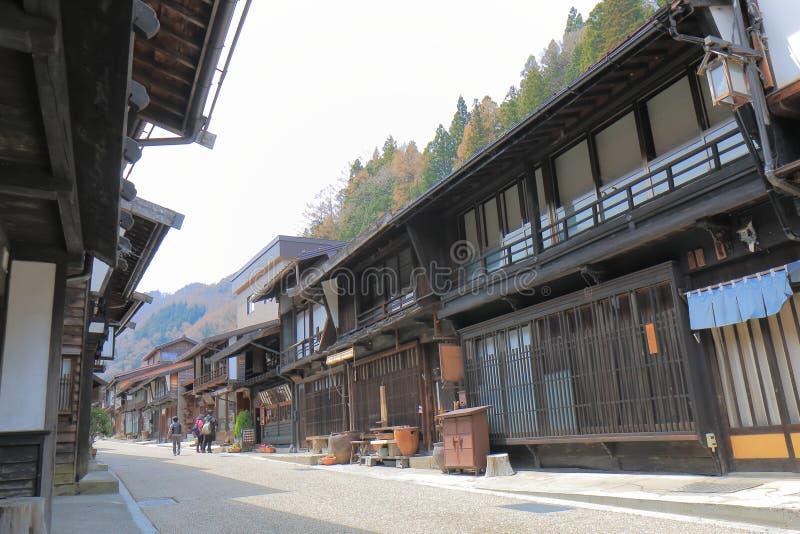 Straat Nagano Japan van het Naraijyuku de historische huis stock fotografie