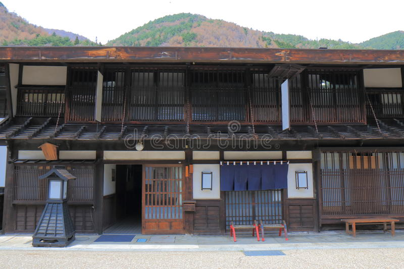 Straat Nagano Japan van het Naraijyuku de historische huis royalty-vrije stock afbeelding