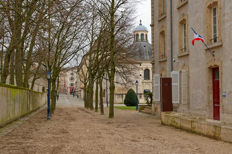 Straat in Nancy, Frankrijk stock afbeelding