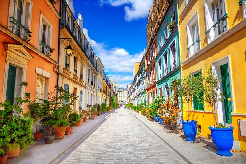 Straat in Parijs stock afbeelding