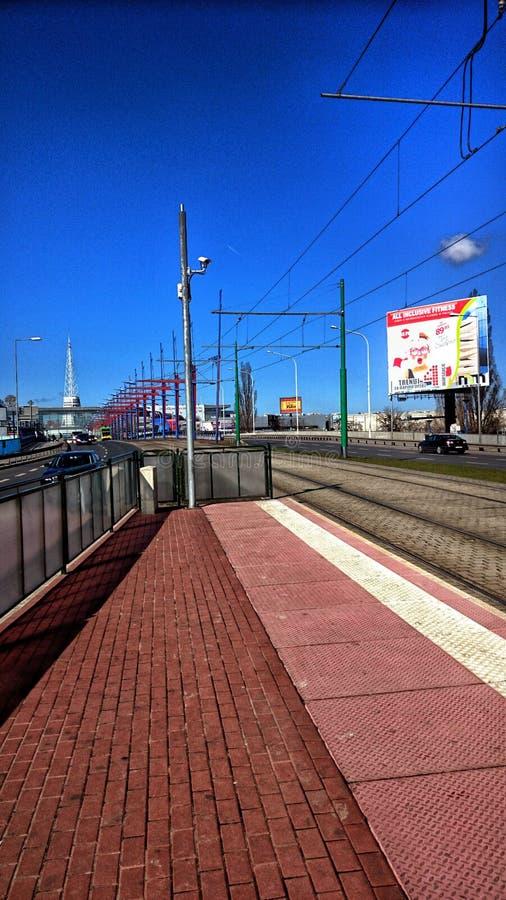 Straat in Poznan stock fotografie