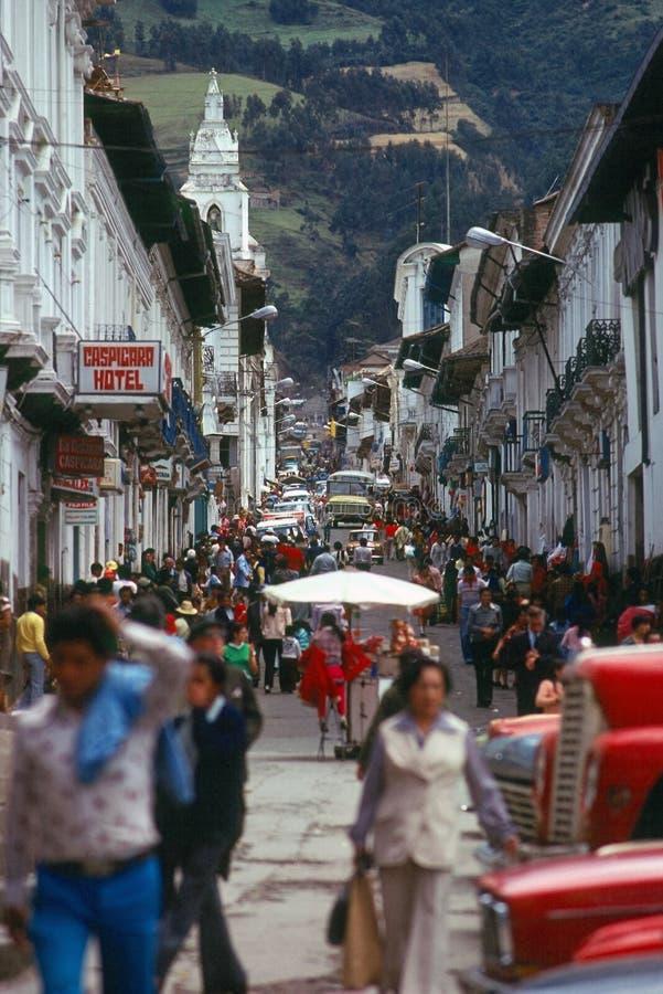 Straat in Quito royalty-vrije stock foto