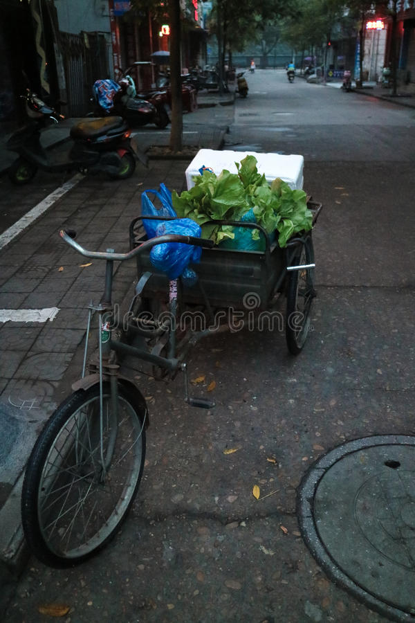 Straat in Quzhou China royalty-vrije stock foto's