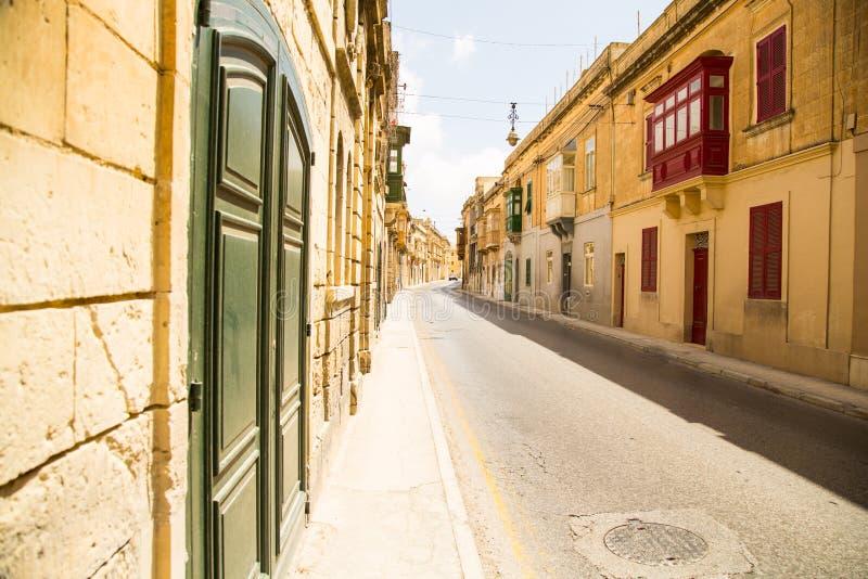 Straat in Rabat stock afbeelding